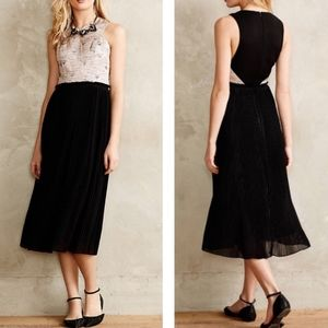Anthropologie -  Isobel metallic midi dress
